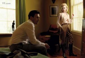 John Hamm y January Jones, caracterizados como Don y Betty Draper