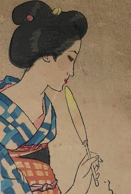 Pintura de Yumeji Takehisa
