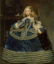 La infanta Margarita en azul, obra de Velázquez