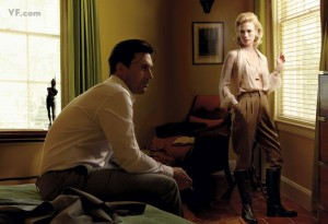 John Hamm y January Jones, caracterizados como Don y Betty Draper