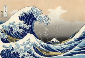 La gran ola de Kanagawa, de Hokusai